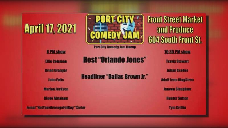 The Port City Comedy Jam takes place Saturday night at Front Street Market and Produce.