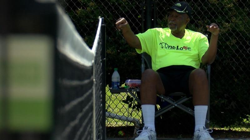 One Love Tennis coach Lenny Simpson back on the tennis court