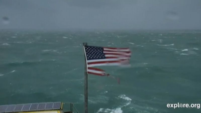 The owner of the Frying Pan Tower Lighthouse says he decided to auction the weather-beaten flag...