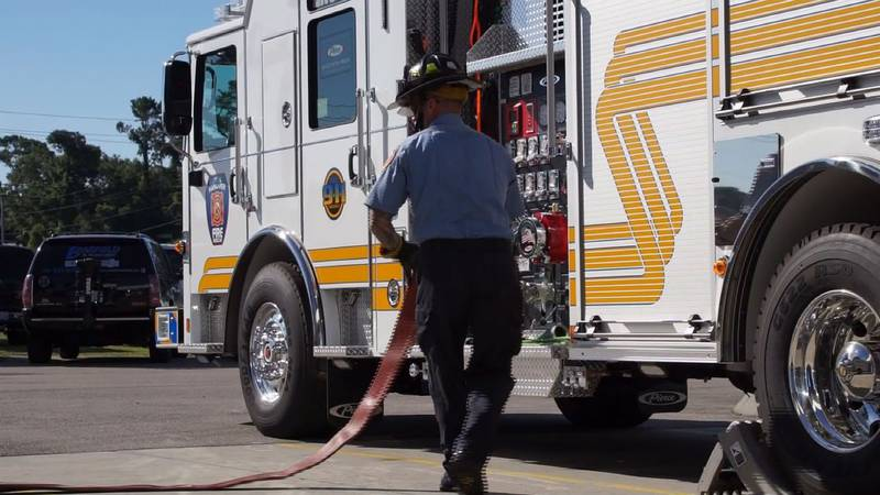 The new Fire Engine 18 can carry 1,000 gallons of water and 30 gallons of firefighting foam,...