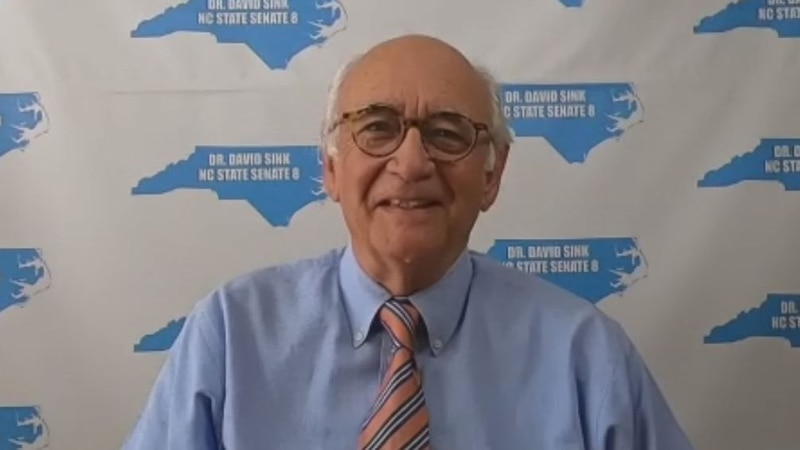 David Sink is the democratic nominee running for the District 8 seat in the North Carolina Senate