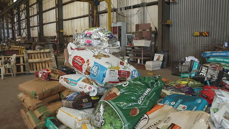 Some of the donations left at the Eastern NC Equine Emergency Assistance (Source: WECT)