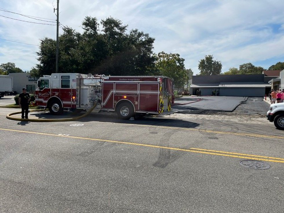 The fire was first reported at Blackwater Guns & Outfitters, located at 1024 South Kerr Avenue,...