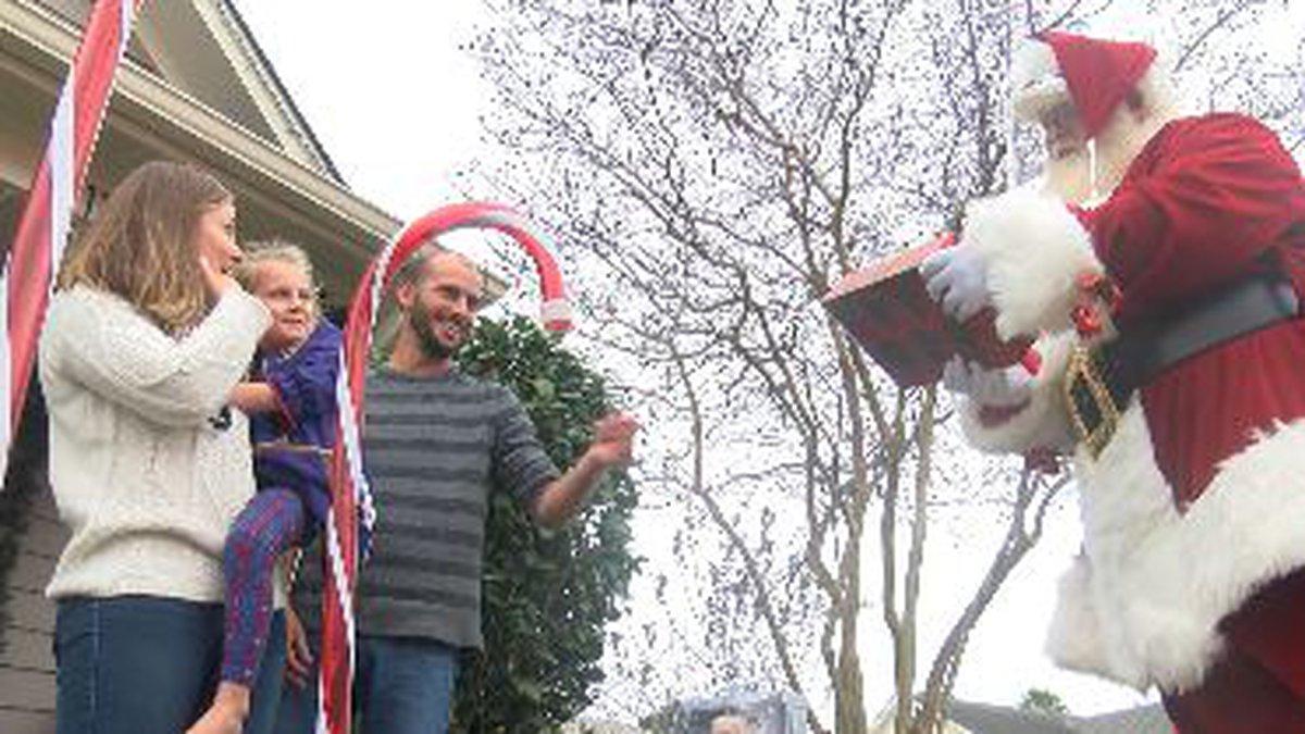 Santa Visits sick child