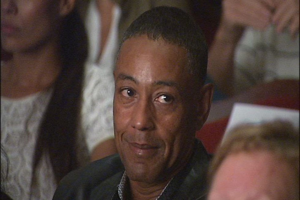 Emmy-nominated actor Giancarlo Esposito in the crowd