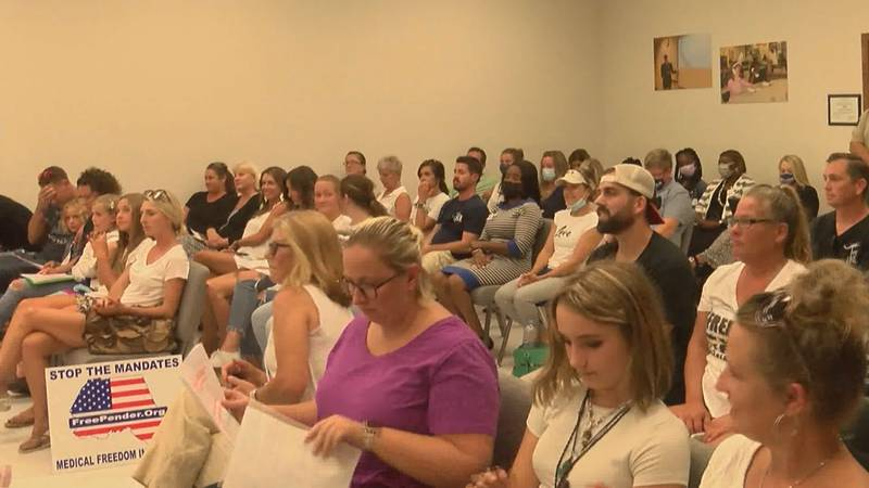 Audience at the Pender County Board of Education meeting on September 14, 2021.