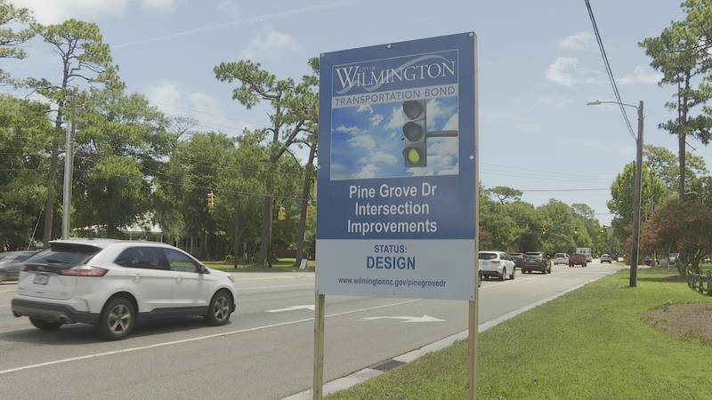 Pine Grove Drive intersection work