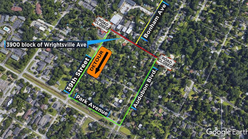 Wrightsville Ave will be closed at Bonham Ave beginning Monday, Jan. 28 for sewer repairs....