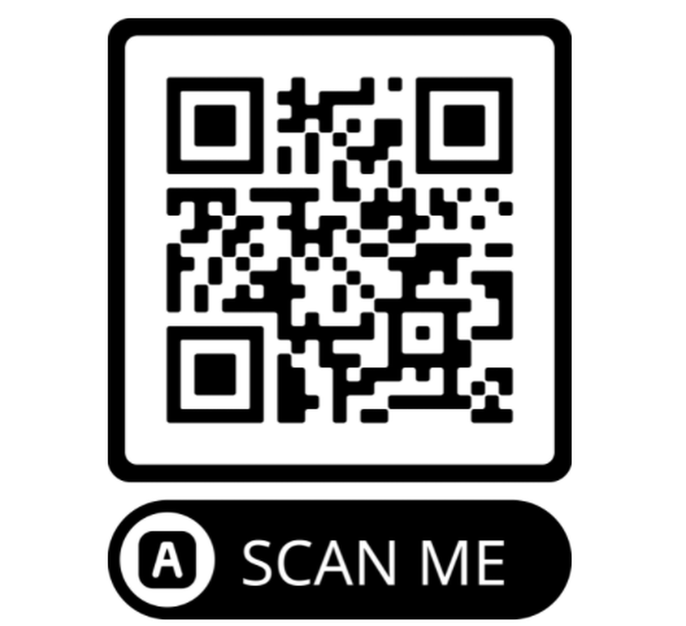 Scanning the code with your phone takes you directly to the app store to download the app