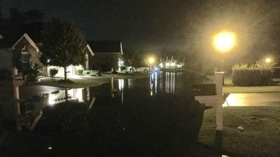 According to Emergency Management Director with Brunswick County, the town ofCarolina Shores...