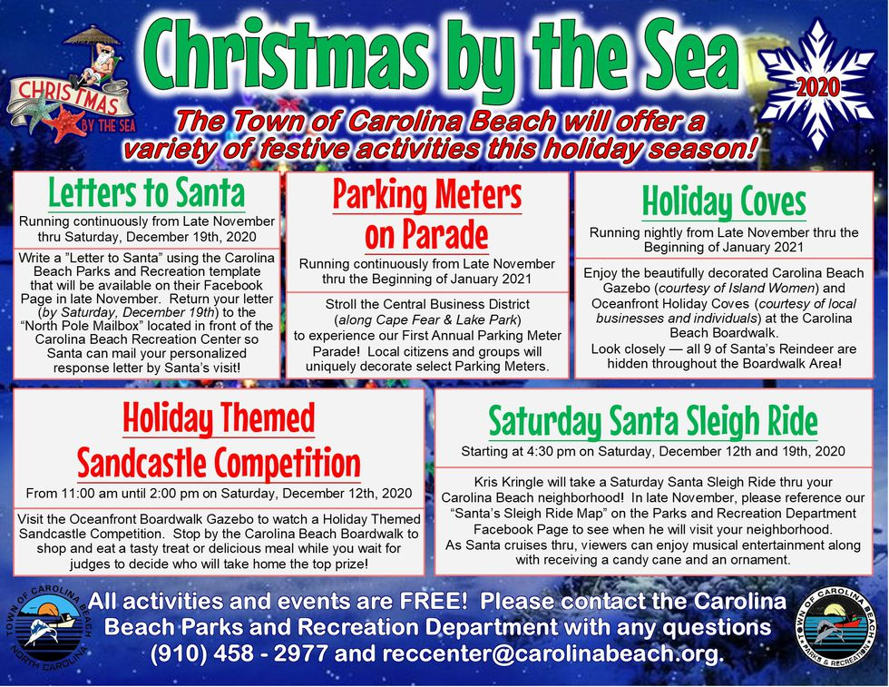 Holiday events and programs put on by the Carolina Beach Parks and Rec Dept.