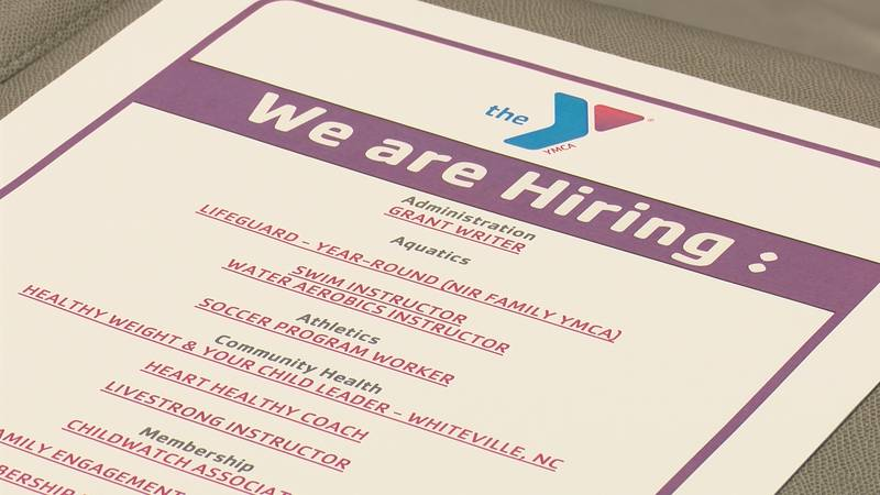 The YMCA of Southeastern NC is looking for employees in response to program and facility growth