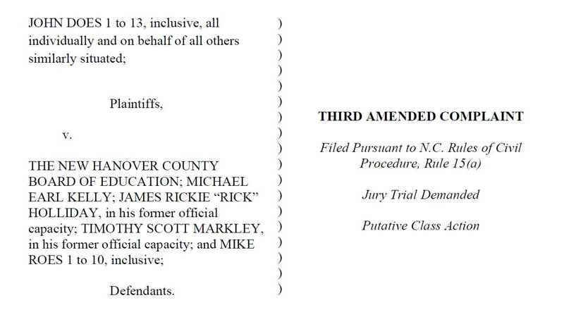 A third amended complaint in the lawsuit, filed in May, details the allegations of the three...