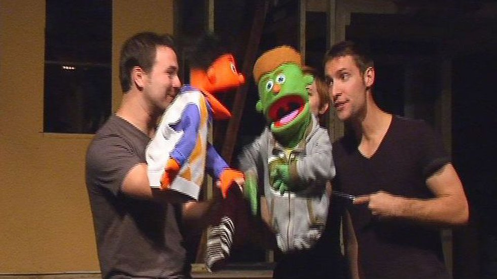 Puppets Princeton and Nicky