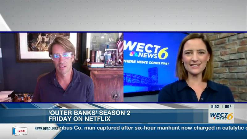 WECT's Ashlea Kosikowski talks to Jonas Pate, the creator of Netflix's 'Outer Banks.'