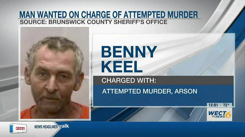 Man wanted on arson, attempted murder charges in Brunswick Co.