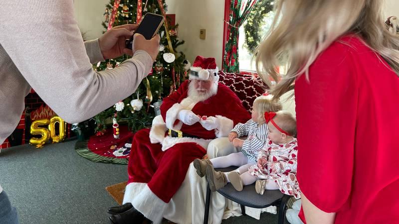 The real Whiteville Santa celebrating his Golden Jubilee