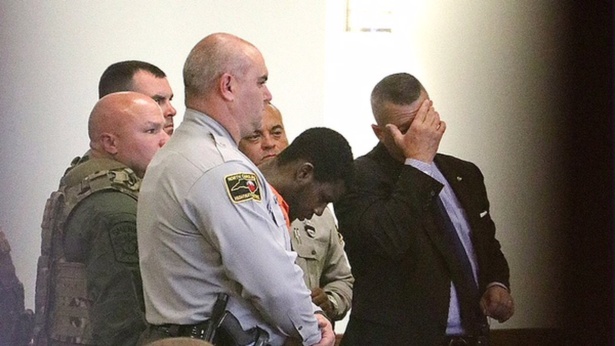 Raheem Davis is charged with first-degree murder. (Source: Pool)