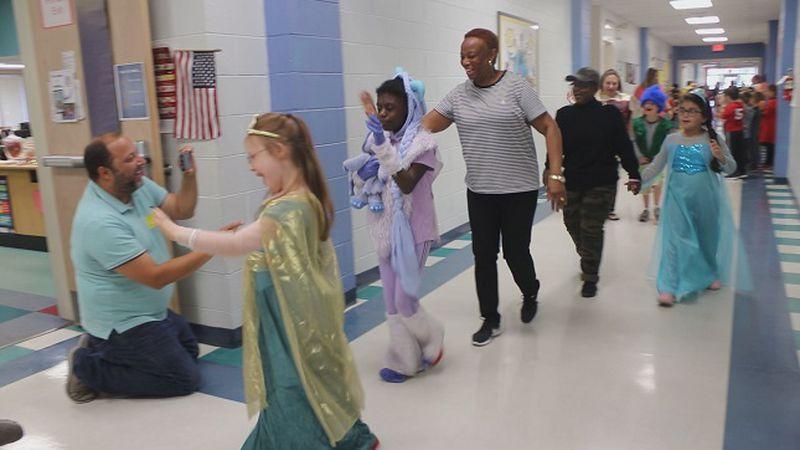 Halloween parade at Codington Elementary school. (Source: WECT)