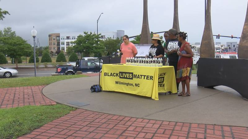 WILMINGTON, N.C. (WECT) - A small group of activists gathered at the 1898 Memorial Park this...