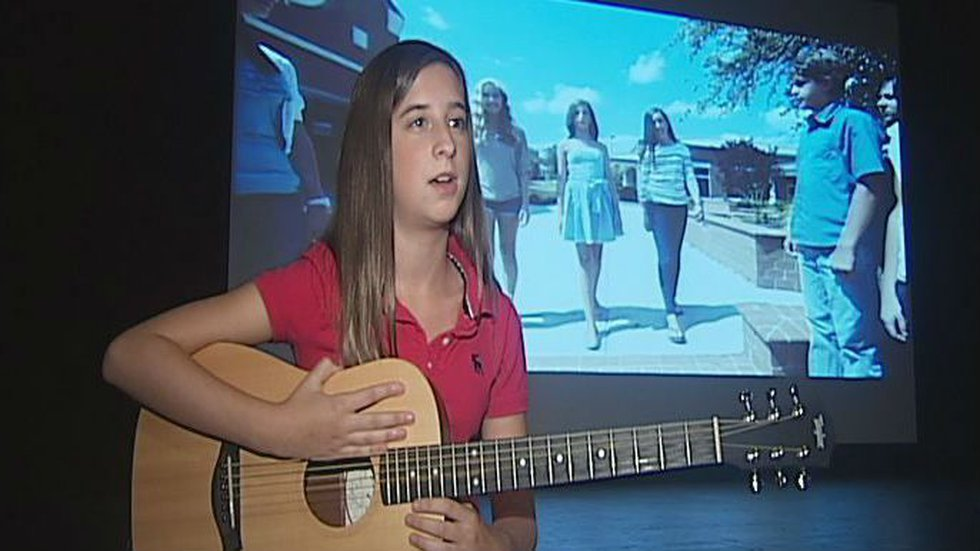 When she learned her idol Taylor Swift was bullied, she was inspired to stand up against...