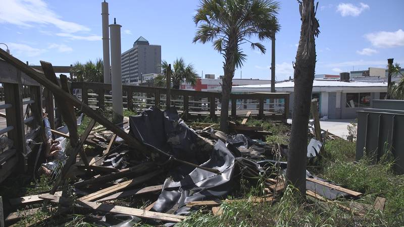 Cleanup after Hurricane Florence is still ongoing in Carolina Beach (Source: WECT).