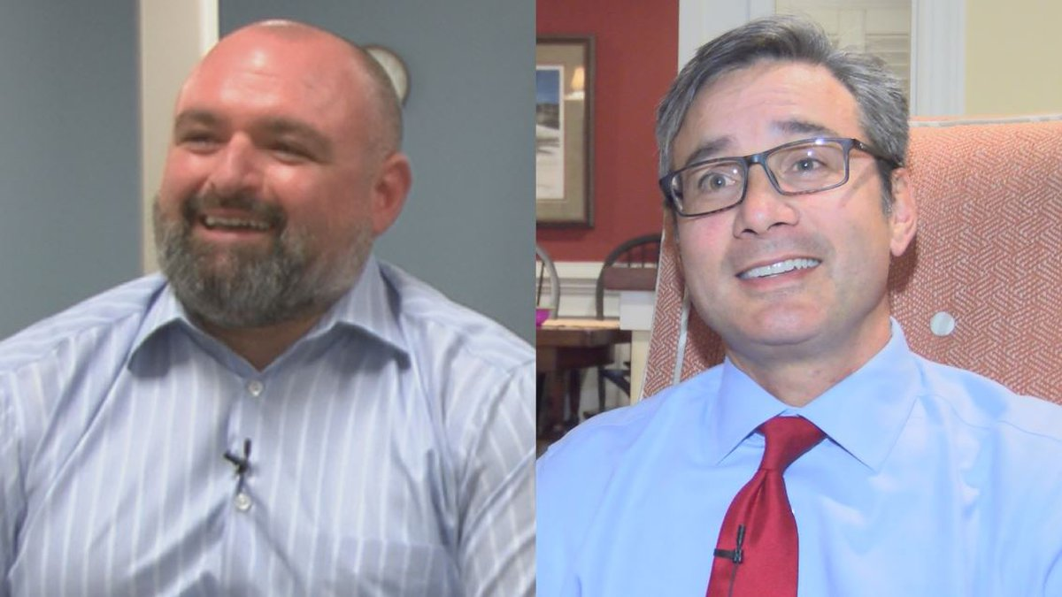 Ethan Bickley (left), the Libertarian candidate running in the District 9 state senate race,...