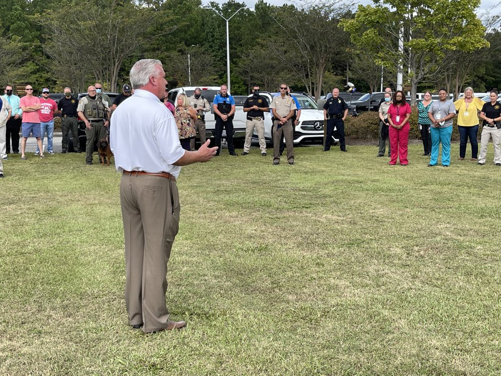 """The NHC Sheriff's Office held a vigil earlier Friday in the hopes """"Mac"""" would pull through."""