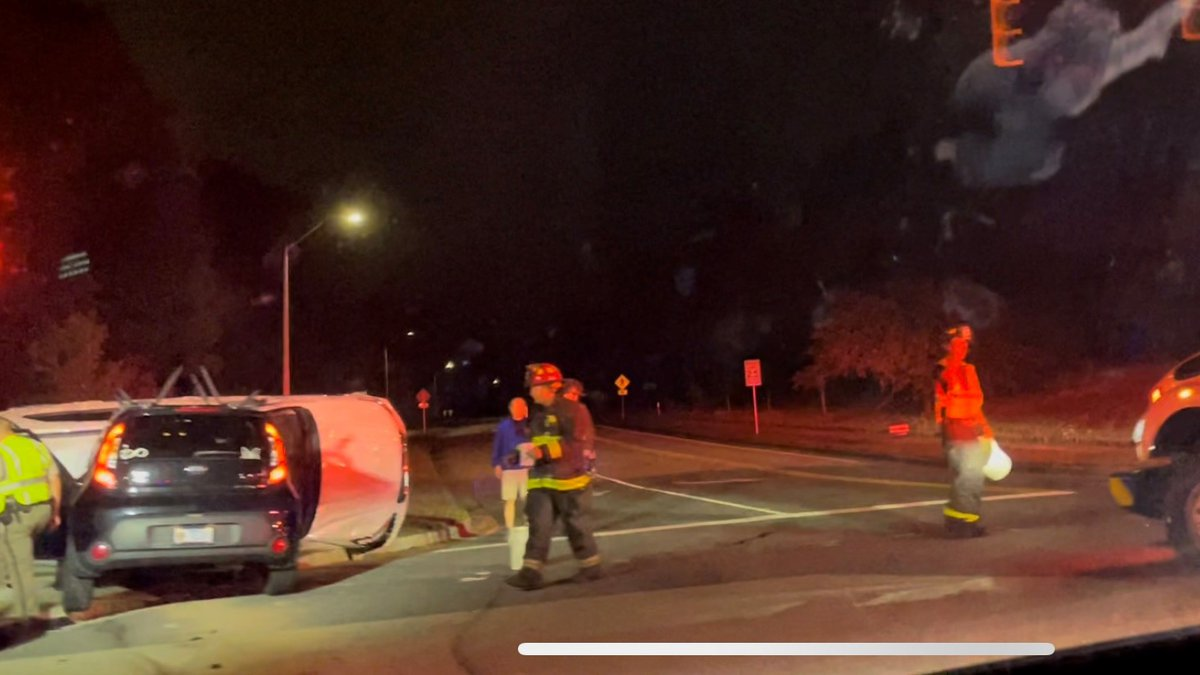 Crews respond to the crash at S. 17th and George Anderson Sunday Night.