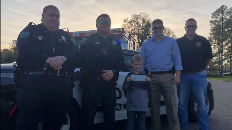 Wallace P.D. & Fire Dept. help raise money for boy with epilepsy