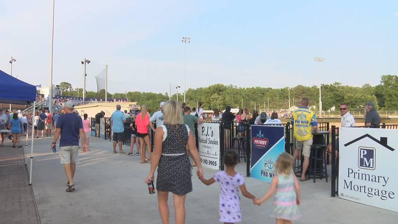 Wilmington Sharks 2021 opening night at Buck Hardee Field