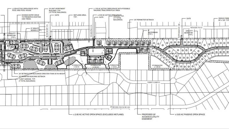 The developer wants to build a large housing development on a 51-acre tract of land located...