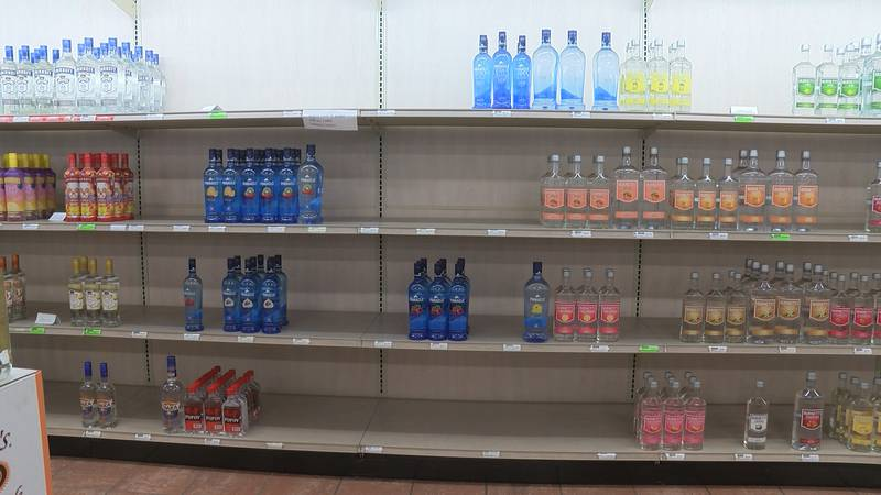 ABC Liquor Stores experiencing the impact of a glass shortage.