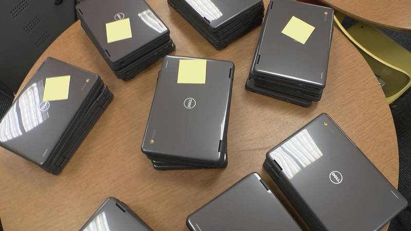 This year, the school system will assign over 2300 Chromebooks to high school students...