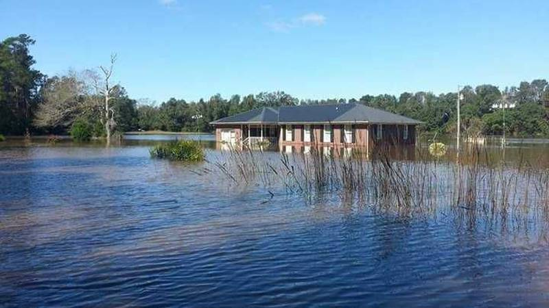 Many homes were flooded in the Black River community after Hurricane Matthew hit. (Source: WECT)