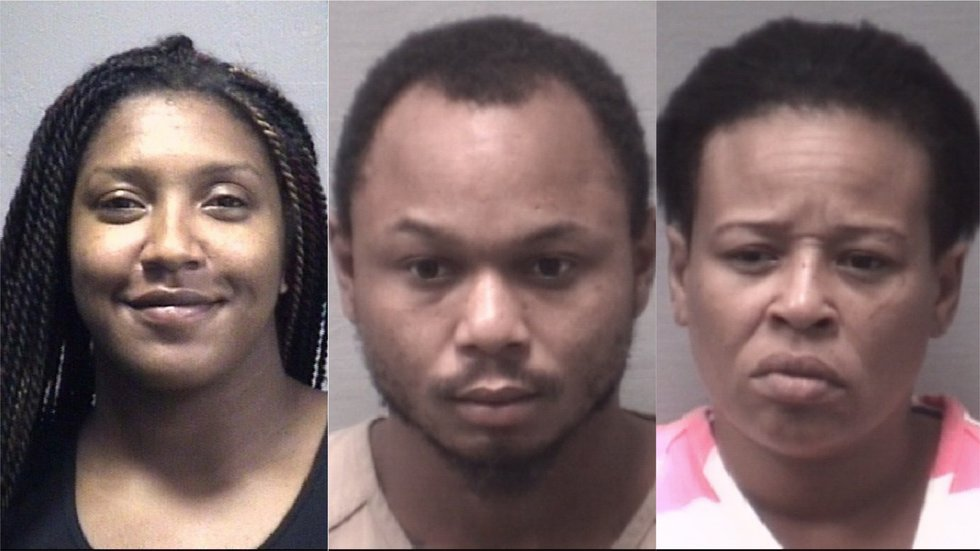 From left to right: Crystal James, Daquan Hansley, and Traneeta Lloyd.